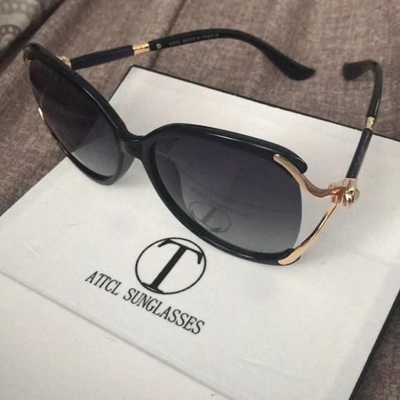 ad4dbb0d25a attcl sunglasses Accessories - ‼ ATTCL Sunglasses 🕶 black gold w flower ...